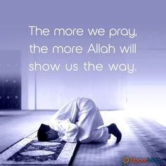 Pray, Allah will show you the way! Pray Quotes, Allah Quotes, Muslim Quotes, Best Quotes, Life Quotes, Islamic Inspirational Quotes, Islamic Quotes, Motivational Quotes, Namaz Quotes