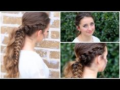 The Viking Braid Ponytail   #hairstyles #CuteGirlsHairstyles #CuteGirlHair #hairstyle #braid #braids #boho #DIY