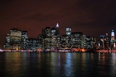 New York City skyline from Brooklyn at night. an apartment with this view would be amazing.