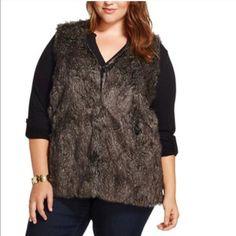 Plus size faux fur vest.  Hook & eye closure Plus size faux fur vest.  Hook & eye closure. Covers the hips Ava & Viv Jackets & Coats Vests