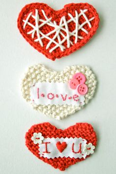 DIY: sweetheart knit valentine