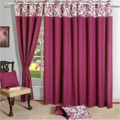 Wine Pink Solid Curtains- The undying charm, the sophisticated elegance, the modern bend and the designer attitude. Window Drapes, Door Curtains, Bay Window, Luxury Furniture, Cool Furniture, Arched Windows, Design Your Home, Bath Decor, Home Decor Items