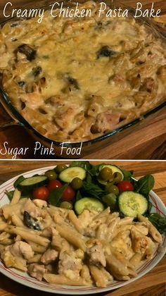 Slimming Sugar Pink Food: Slimming World Recipe:- Syn Free Creamy Chicken Pasta Bake - Syn free Creamy Chicken Pasta Bake. Slimming world recipe dinner recipe. Slimming World Pasta Bake, Slimming World Dinners, Slimming World Recipes Syn Free, Slimming World Diet, Slimming Eats, Slimming World Chicken Pasta, Chow Mein, Creamy Chicken Pasta Bake, Creamy Pasta