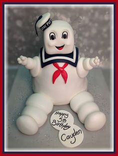 #Marshmallow Man #cake from #Ghostbusters
