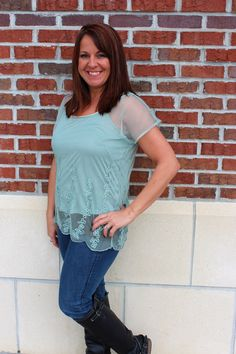 Mint Julep top - $32 Call 317-889-1150 or email jen@jendaisy.com to order!