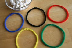 Winter Olympic Snowball Ring Toss