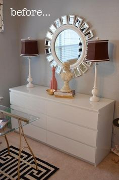 Before & After: Ikea Malm Goes Grecian Glam — Amanda Carol at Home