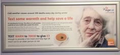 Text-to-donate poster from AgeUK