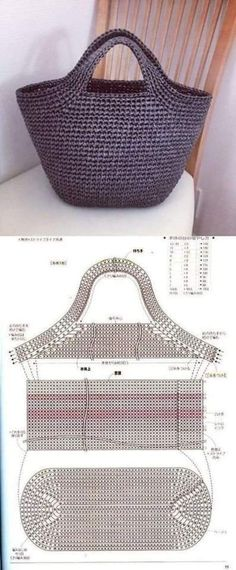 A bag A bag - # crochet handbags and purses How To Do Crochet, Crochet Baby, Crochet Ripple, Crochet Afghans, Free Crochet, Crochet Handbags, Crochet Purses, Knitted Bags, Knitted Blankets