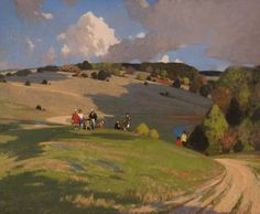 The Athenaeum - On the South Downs (George Henry, R.A., R.S.A., R.S.W. - )