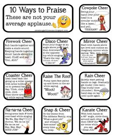 "I teach reading at an elementary school. I love what I do! I wanted to share some ""ways to praise"" that we use in my classroom.      These ..."
