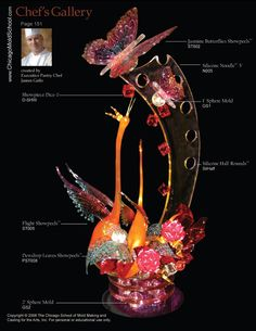 Sugar Showpiece created by Pastry Chef James Gallo - The Chicago School of Mold Making #sugarwork #butterfly