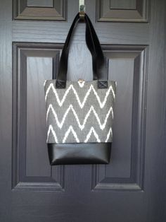 Tribal southwest tote in black white grey and by babymamasewshop