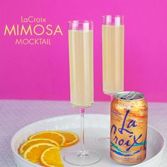 This weekend try the #lacroixsparklingwater Mimosa Mocktail! #lacroixchallenge #40canchallenge