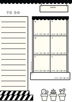 Free Printable Weekly Blog Planner From  Design Is Yay!