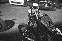 80s shovelhead on the street : 画像