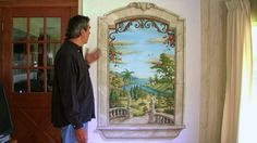 Trompe L'Oeil Window Mural - YouTube