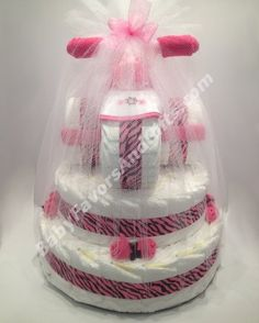 Tricycle diaper cake base #pinkForGirl #babyShower