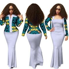African Dashiki Long Dress with Crop Top Suits Set for African Dashiki, African Fashion Ankara, Latest African Fashion Dresses, African Print Fashion, Africa Fashion, African Dresses For Women, African Attire, African Traditional Dresses, Traditional Outfits