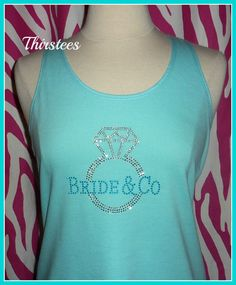 For Lisa's bachelorette! Tiffany Blue Theme Wedding Bride and Co Diamond ring by Thirstees, $16.50