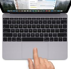 The force touch track pad on the new MacBook