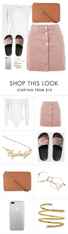 """Sexy"" by amickens1210 ❤ liked on Polyvore featuring Boohoo, Topshop, Hot Topic, Gucci, MICHAEL Michael Kors and Venus"