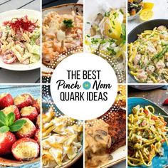 """question we get again, and again is """" I need slimming World recipe ideas with Quark?"""" We thought we'd give you a few Quark Slimming World Recipe ideas. Healthy Foods To Eat, Healthy Dinner Recipes, Diet Recipes, Healthy Eating, Healthy Dinners, Healthy Desserts, Easy Recipes, Cooking Recipes, Quark Cheese"""