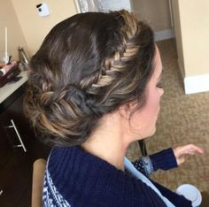 Louise Roe's hair for the 2015 Golden Globes... Gorgeous!