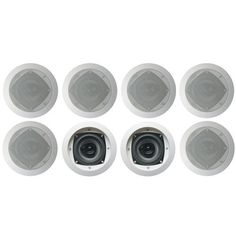 "Acoustic Audio CS-IC42-4PR 150 Watt 4"" 2-Way Home Theater In-Wall/Ceiling Speakers (4-Pair) by Acoustic. $124.99. Acoustic Audio CS-IC42 4"" in-wall/in-ceiling surround sound speakers are ideal for any home, office or entertainment area because they are designed with supreme performance in mind. Each speaker handles 150 watts of power and includes: a 4"" Poly cone woofer for improved motion and higher bass response, a butyl rubber surround, a progressive spider for greate..."