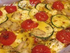 Frittata de Courgette, Tomate e Queijo Creme