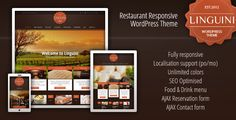 Linguini is a theme perfect fit for the restaurants, pubs, bars, wineries and other companies offering foods and drinks. Linguini theme offers an excellent system for administration menu cards (food menu, drink menu) and photogalleries. The theme is highly optimized for search engines and has excellent SEO options. Linguini is a fully responsive theme for WordPress, which adapting display to all devices (scre...