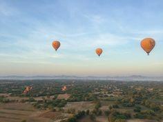 bagan myanmar hot air balloon ride