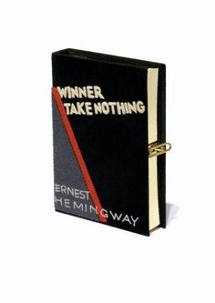 winner take nothing - book clutch by olympia le tan