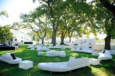 An #outdoor #wedding lounge