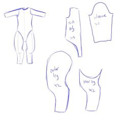 Fursuit body basics (what to cut out and shape)