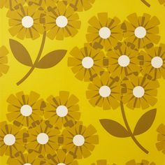 Orla Keily 70s wallpaper- nice for a accent wall in a downstairs toilet. Probably not a large space