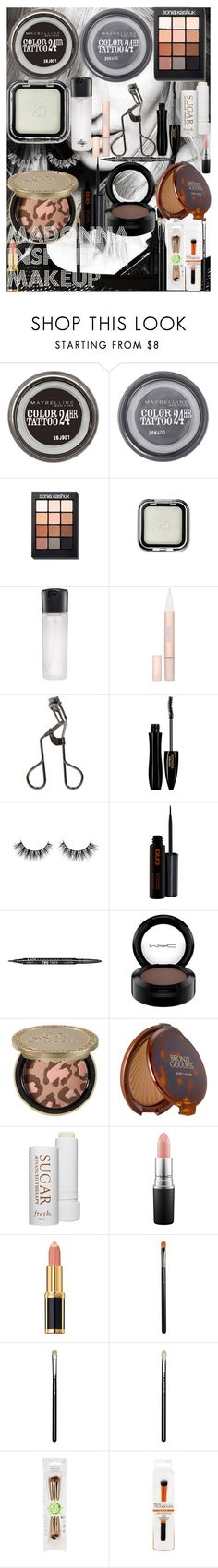 """""""Madonna Inspired Makeup"""" by oroartye-1 on Polyvore featuring beauty, Maybelline, Sonia Kashuk, MAC Cosmetics, L'Oréal Paris, Tweezerman, Lancôme, NYX, Too Faced Cosmetics and Estée Lauder"""