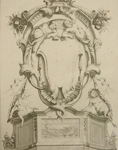 antique_18th_century_french_interior_design_architecture_military_cartouche_etching_17921f.jpg (587×750)