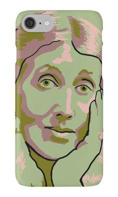 Virginia Woolf green iPhone case and skins by savantdesigns