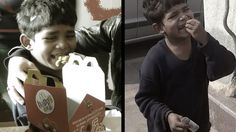 Can you answer one question, who will feed the Child Labour ? According to surveys by NGOs more than 60 million children are estimated working as laborers in India. Watch the very heart touching video - Street-kid Visits McDonalds for the first time. Kindness Video, Most Viral Videos, Old Street, Poor Children, 5 Year Olds, Movie Trailers, Way To Make Money, Oldest Child, First Time