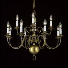 Weinstock 3111-12AB 12-Light Williamsburg-Style Brass Chandelier - Lighting Universe Brass Chandelier, Chandelier, New Homes, French Cottage, Decor, Cottage Dining Rooms, Front Door, Ceiling Lights, Home Furnishings