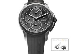 New Maurice Lacroix Pontos Automatic Chronograph watches to buy online and on sale at discount prices. - Page 2 Elegant Watches, Beautiful Watches, Cool Watches, Watches For Men, Men's Watches, Fossil, Maurice Lacroix, Black Luxury, Ceramic Coating