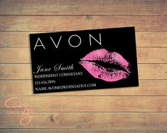 $3.99 AVON business card printable, download, lips, kiss- This listing is for a premade business card to be customized with your information. It can be printed at your online or local printer. Independent Beauty Constulant