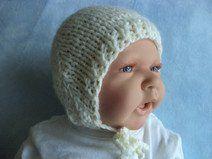 Babymütze Schurwolle 35-38cm Mütze gestrickt Wolle