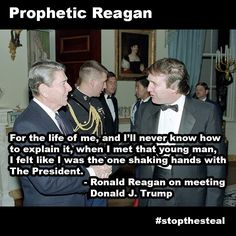 """For the life of me and i'll never know how to explain it when I met that young man I felt like I was the one shaking hands with The president"" - Reagan on meeting Trump. http://ift.tt/2gb4Paj"