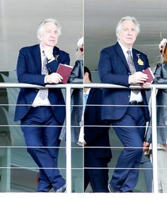 My obsession — Alan Rickman at Goodwood racecourse on July 29,...