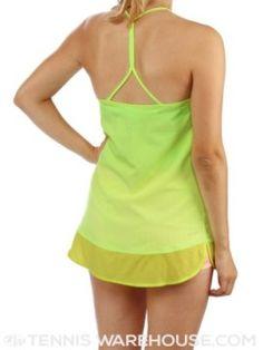 Serena Williams' Australian Open 2015 lime Nike dress called Spring Slam Tunic - back view