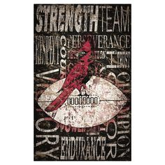 "NFL Arizona Cardinals Heritage Word Collage 11"" x 19"" Sign"