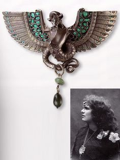 René Lalique 'Dragon' Diadem converted into a Brooch: silver/ enamel/ aventurine, 1897-99. Collection of Lalique Musuem, Hakone, Japan. Source: René Lalique - Exceptional Jewellery 1890 - 1912