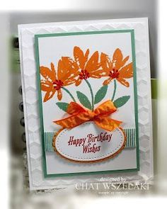 """Me, My Stamps and I: Avant Garden,  Peekaboo Peach 3/8"""" (1 Cm) Ruched Ribbon, Stitched Shapes Framelits, Layering Ovals Framelits, Hexagons Dynamic TIEF"""
